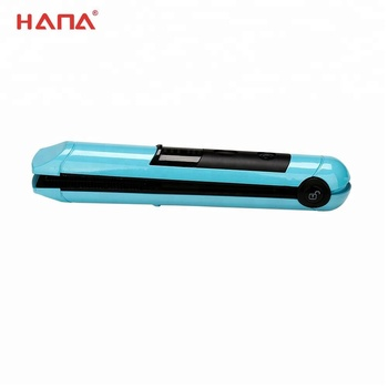 HANA titanium straightening iron portable hair straightener