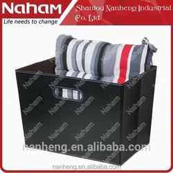 NAHAM PVC Leather Decorative Foldable Storage Tote Basket