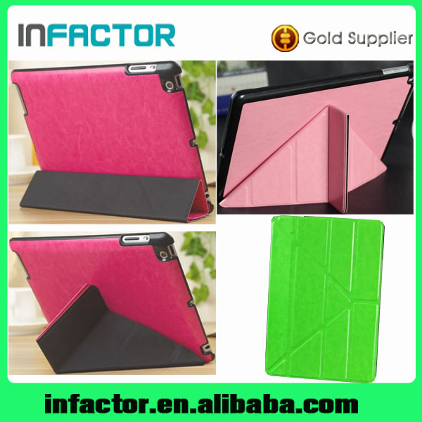 Luxury Transformers Pull-up Leather Case for iPad 5