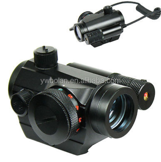 Tactical Reflex Green / Red Dot Sight Scope & Laser Sight For Rifle Combo with Rail Mount