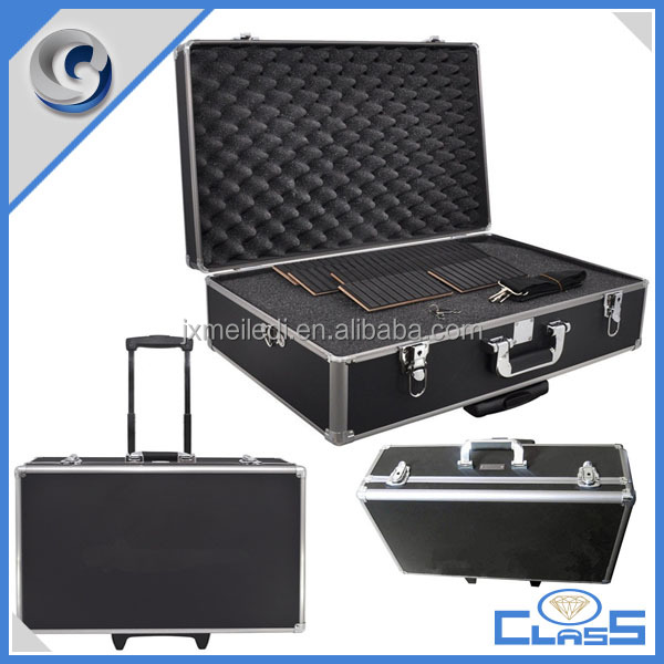 MLD-CB022 Professional Custom Black Locking Aluminum Trolley Tool Digital Camera Equipment Carrying Case