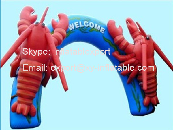 welcome inflatable lobster arch outdoor entrance arch designs