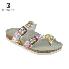 2017 hot new products summer sandals 2018 printing pattern toepost girl flat sandal summer slipper shoes woman beach slipper