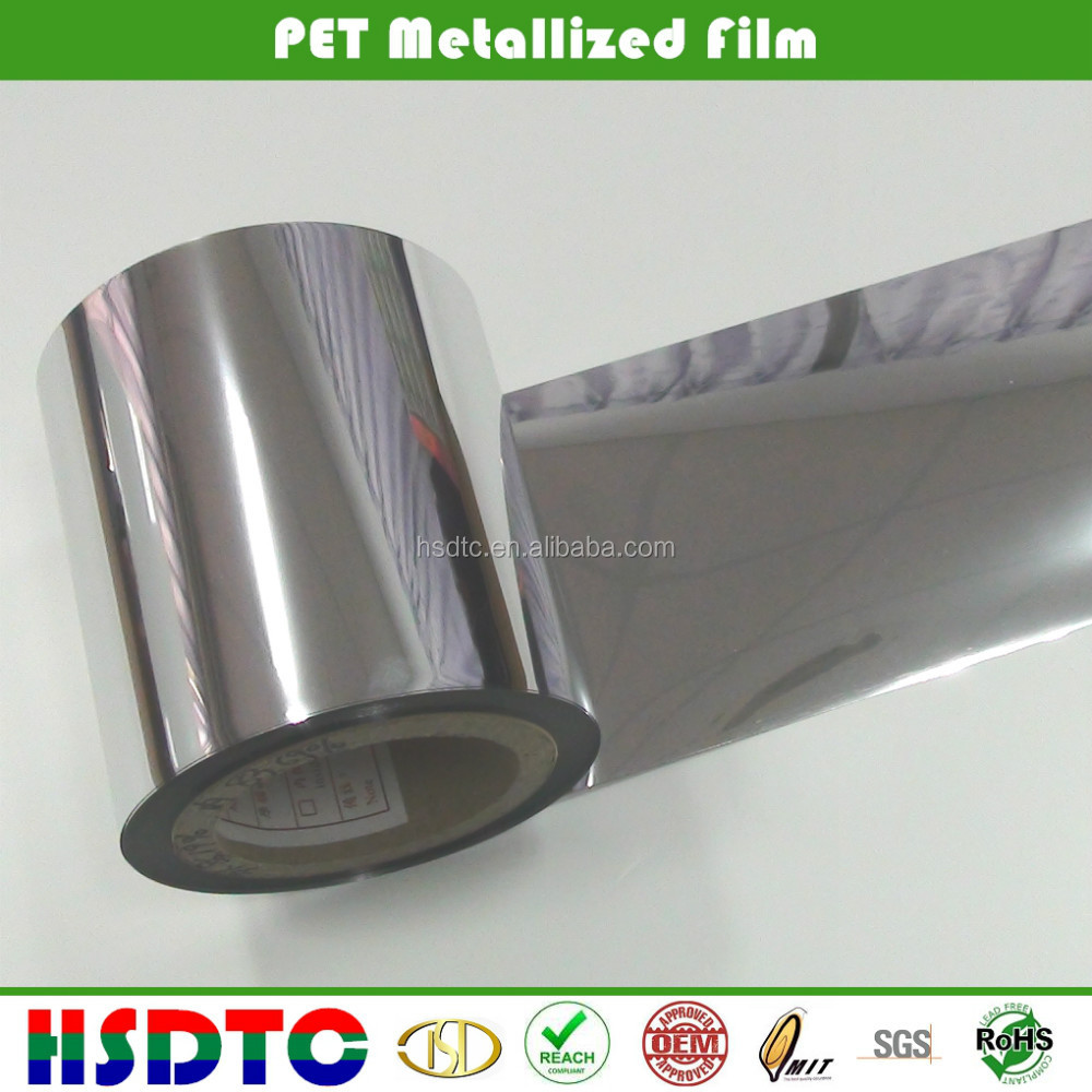 Colorful Metallized PET Film/Metallized Film/Metallic Polyester Film For Packaging And Print