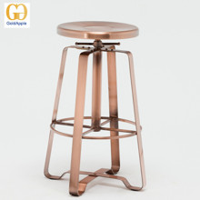 Commercial Industrial Furniture Metal Backless Swivel Bar Stool/ Adjustable Counter Stools