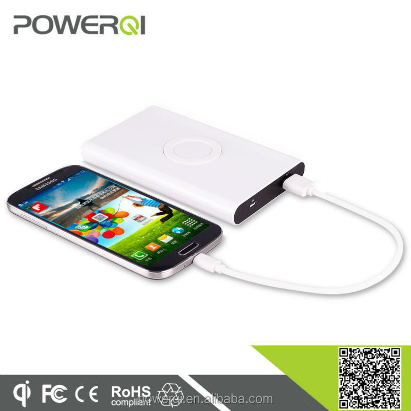Powerqi T800 mobile battery charger,universal wireless charging power bank for Sumsung Galaxy S4