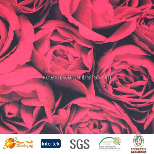 rose flower digital printed cotton fabric