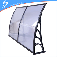 Hot Sale 200x100 Aluminium Material Metal Frame 5mm Polycarbonate Balcony Canopy Awning