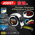 Pro-grade Co-molded TPR steel tape measure with UV chromed ABS plastic body tape measure 3m 5m 7.5m steel tape measure