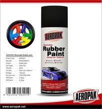 Aeropak Peelable flexible rubber coating ,spray liquid paint film for car paint protective