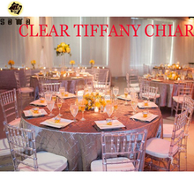 Funiture Polycarbonate Resin Event Chiavari Chair Clear