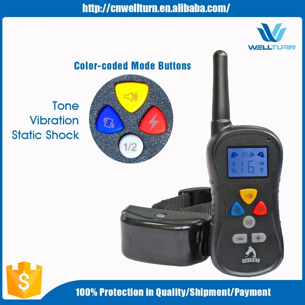 Electronic Remote Vibrating Static Shock Remote Peted Dog Trainer, Multi-dog Electric Control Range Led E Dog Collar
