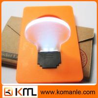 Mini pocket led card light heart shape pocket lamp