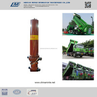 hydraulic cylinder for garbage truck , dump trailer , double acting hydraulic jack