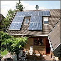 Easy installation 10000w solar kit system include on grid solar panels also with solar power station inverter