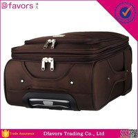 Hot selling soft 20 inch eminent trolley luggage amber it luggage adjustable rubber band multiple colors
