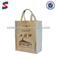 Plastic Chill Wine Bag Linen Wine Bag