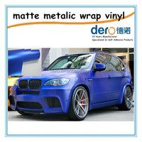 Dero Blue and Purple Matt Metallic Car wrapping Vinyl foil