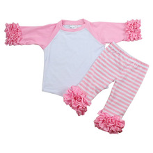 Hot Sale latest style Top&Pants Baby Children Kids Made in China Casual Girls Wear
