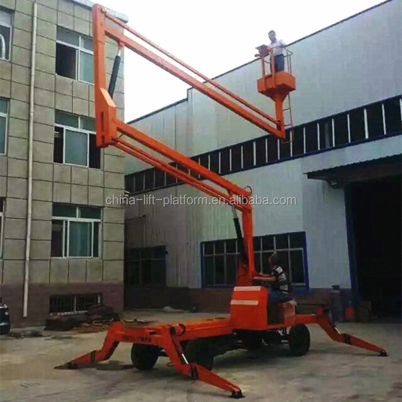 Hot sale 12m Towable Boom lift/High building cleaning equipment