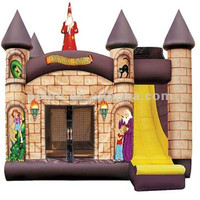 wizard and witcher inflatable mini combo jumper, inflatable slide bouncer combo