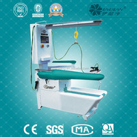 Laundry industrial clothes ironing table with spotting function
