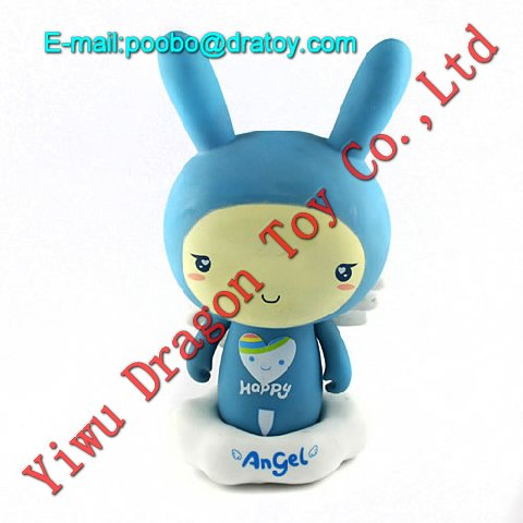plastic cartoon figure toy, angel baby figurine