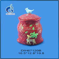 Birthday gift dessert container ceramic canister tea coffee sugar set with great price