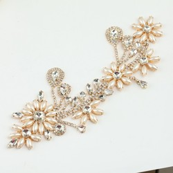 Best wholesale pearl bridal crystal beaded lace trim pearl trim lace