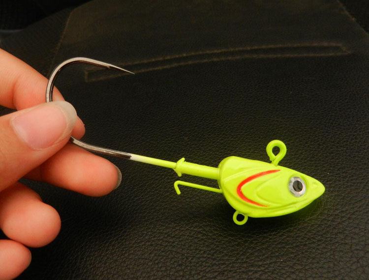 High Quality New Design Mustad Hooks Jig Metal Head Lures