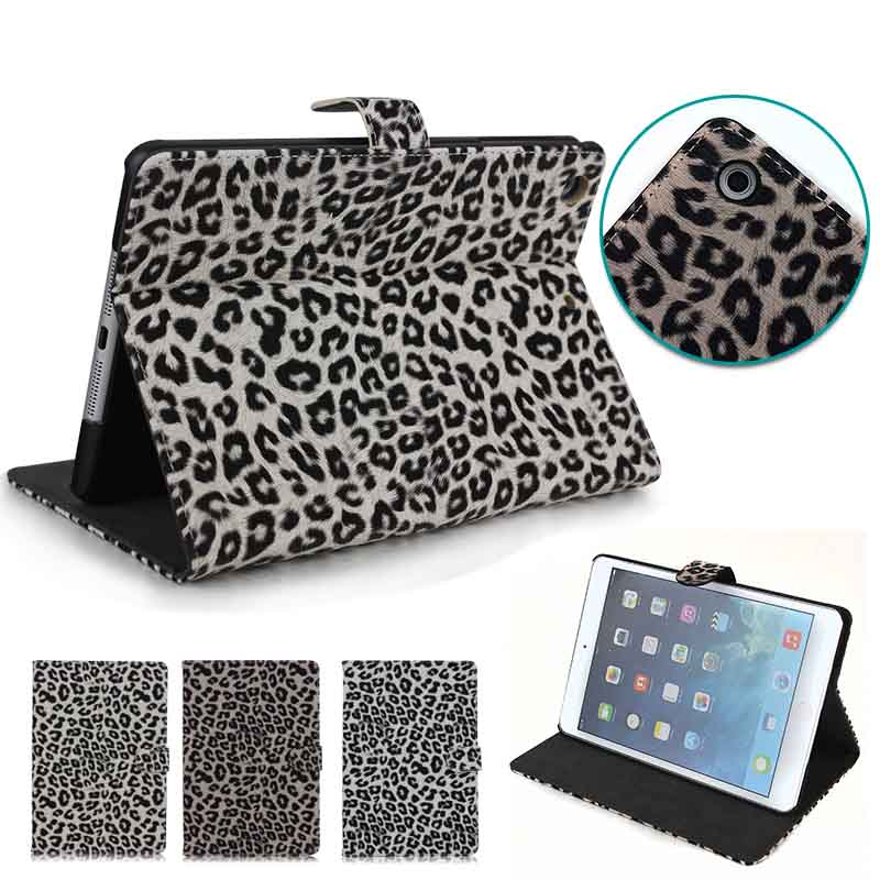 High quality Leopard Wallet Flip case for iPad Mini2 , for iPad Mini 2 back covers