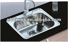 Stainless steel single bowl kitchen basin