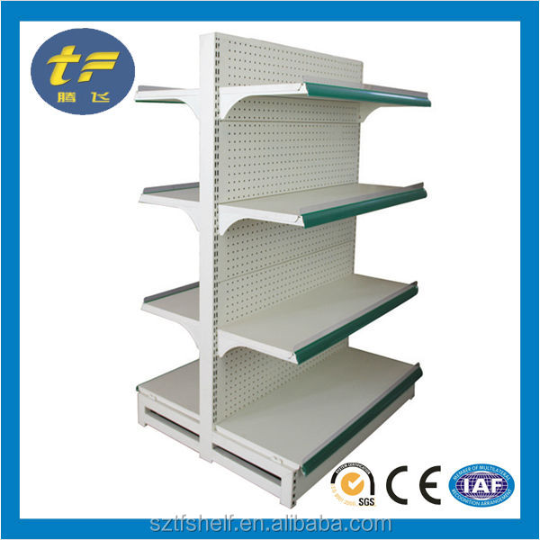 alibaba steel metal board grocery store shelf