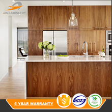 Wholesale factory light grey wood grain kitchen cabinet