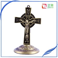 wholesale metal catholic crucifix small decorative cross