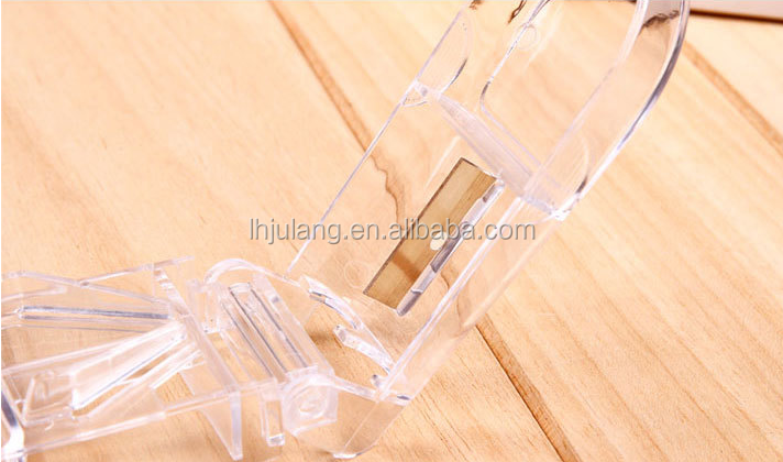 Promotional Mini cute Plastic ABS PS Transparent pill cutter,Stainless Steel Blade