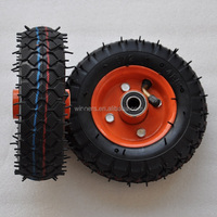 150mm small pneumatic rubber wheel 6""