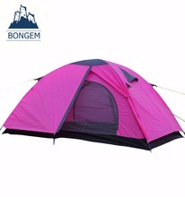 Hot selling new design fashion waterproof pink camping tent
