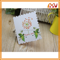 japanese style flower printing folding handmade greeting Card for wholesale
