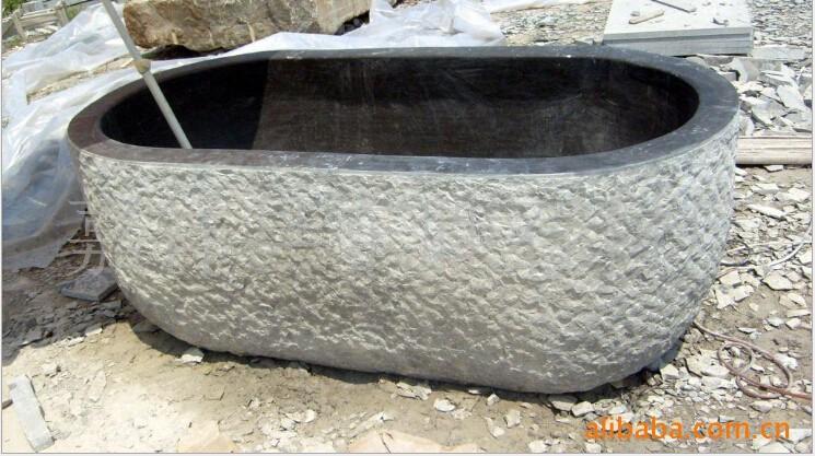 Pietra nera lucido bagno vasca da bagno/pietra naturale vasche ...