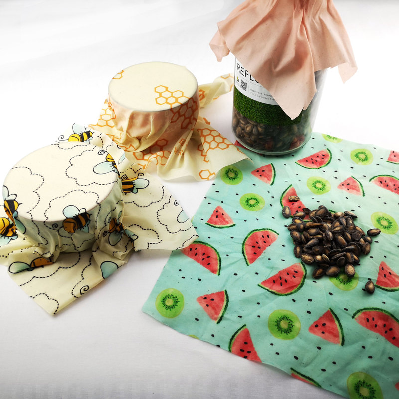 Zero Waste Cheese and Sandwich beeswax food wrap biodegradable beeswax paper