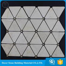 China manufacturer marble polished triangle pattern waterjet medallion made in