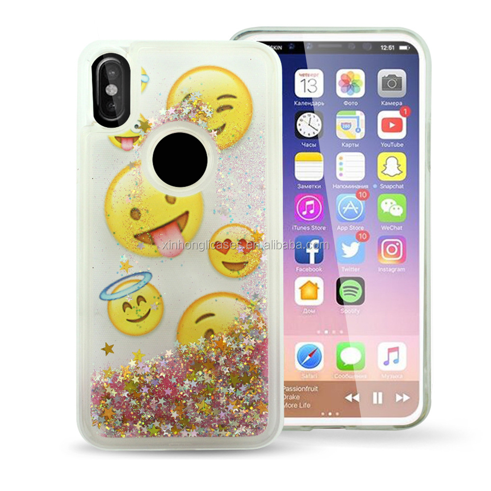 Bling Bling Phone Case Liquid Phone Case For Iphone X Print Phone Case