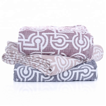 Pink korean gauze single bed cover sheet set blanket with fashion designs