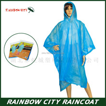 Blue PVC transparent bicycle raincoat for kids without sleeve