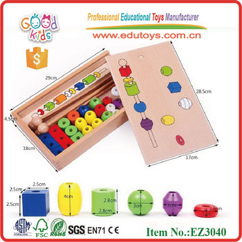 wholesale children educational bulk wooden heart beads hot sell keep in stock