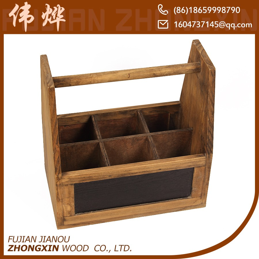 Cheap 6 bottle wooden wine carrier crates for sale