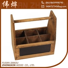 Cheap 6-bottle wooden wine carrier for sale