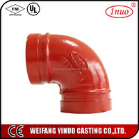 FM/UL certificated 3 way elbow pipe fittings 90 Degree Elbow