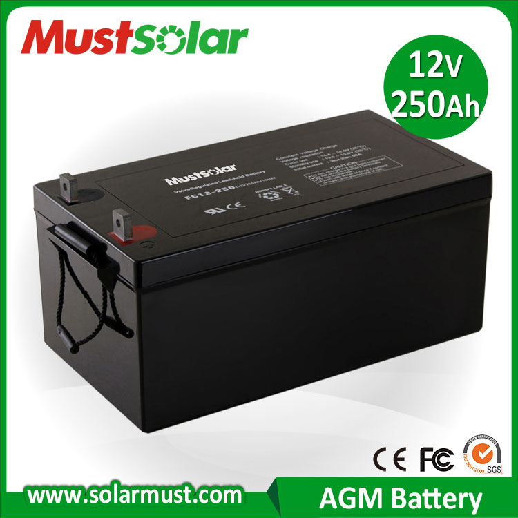 MUST Solar 12V 250Ah Sealed Lead Acid Battery for Solar Charger